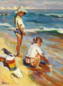 "Shapovalenko - Children on the Beach 24"" x 20"""