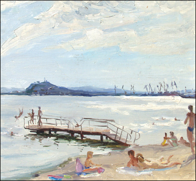 "The Beach, M. Shapovalenko, o/l, 17.75""x 19.75"""