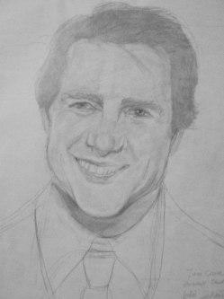Tom Cruise portrait in progress