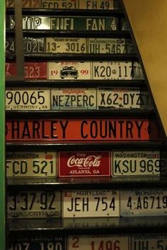 license_plate_adorned_basement_steps