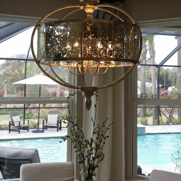 mercury glass chandelier