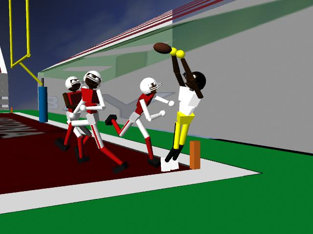 Hey! So I finally added some color and some textures, and dudes' got helmets, and I created multiple camera angles too