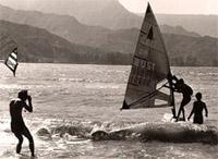 Joey Skaggs windsurfs from Hawaii to California