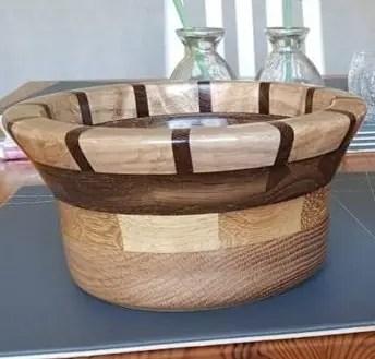 Oak and Walnut Segmented Bowl