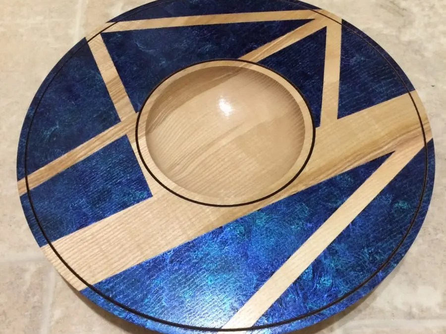 Ash Platter with Iridescent Colours