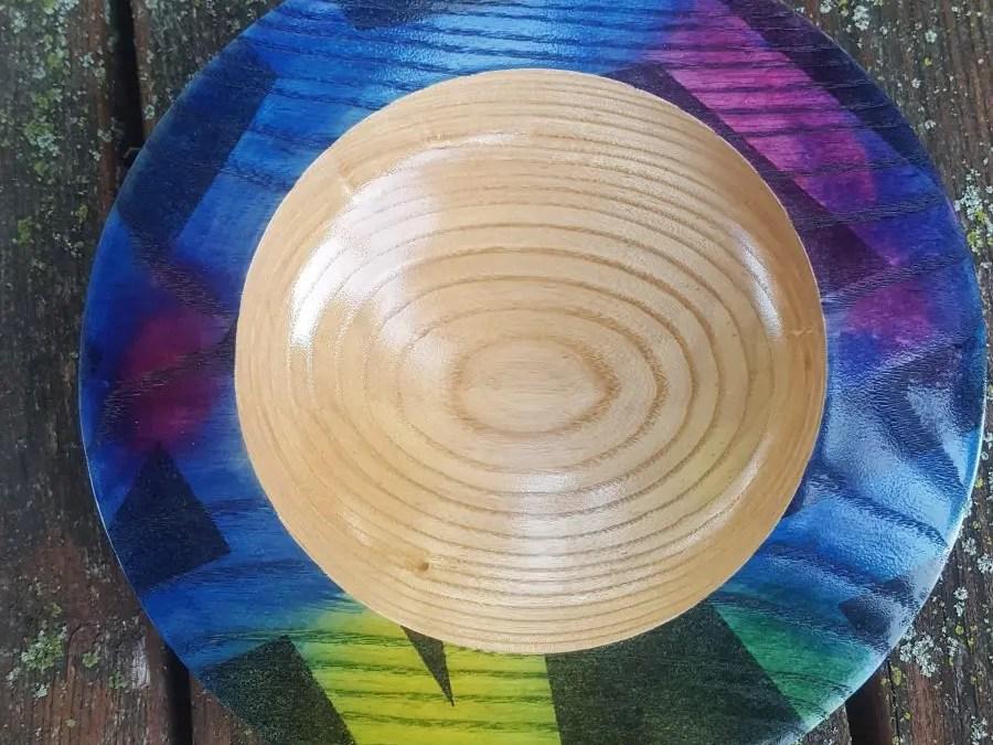 Ash Platter with Graffiti Inspired Finish