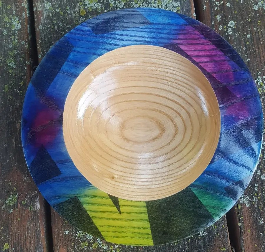 Graffiti inspired ash platter