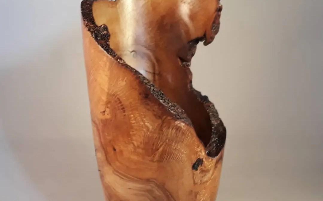 Oak Burr Hollow Form Vase