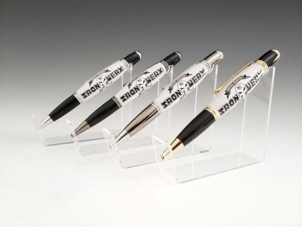 Customized acrylic business pens.