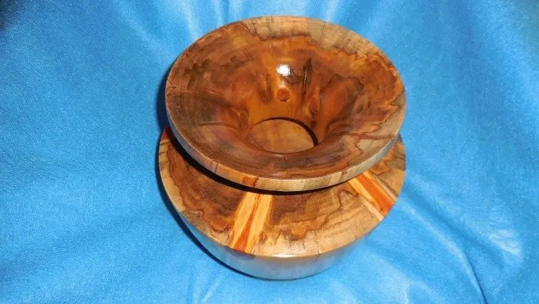 Norfolk island pine woodturned vessel.