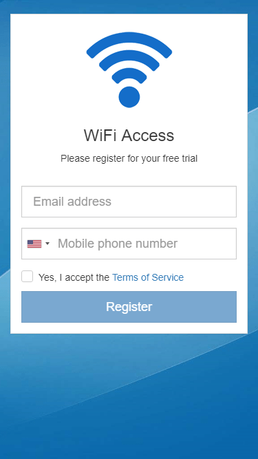 Registration for Free Trial voucher