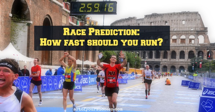 AOYS Race Prediction, how fast should I run, how fast to run, how to predict race time