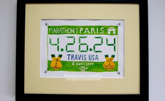 Paris Marathon painting