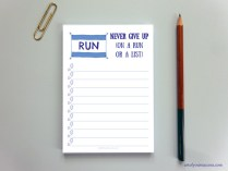 To do list for runners