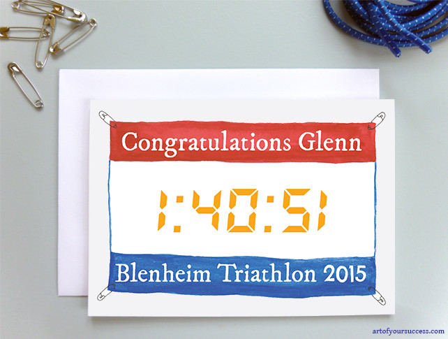 Personalised race event time card