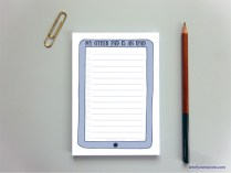 to do list notepad in style of iPad