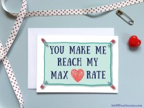 Valentine Card for runner triathlete cyclist