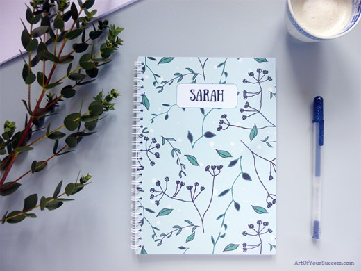 A5 spiral notebook personalised