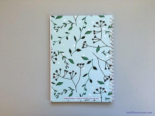 A5 spiral notebook back