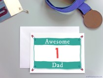 Awesome number one Dad card