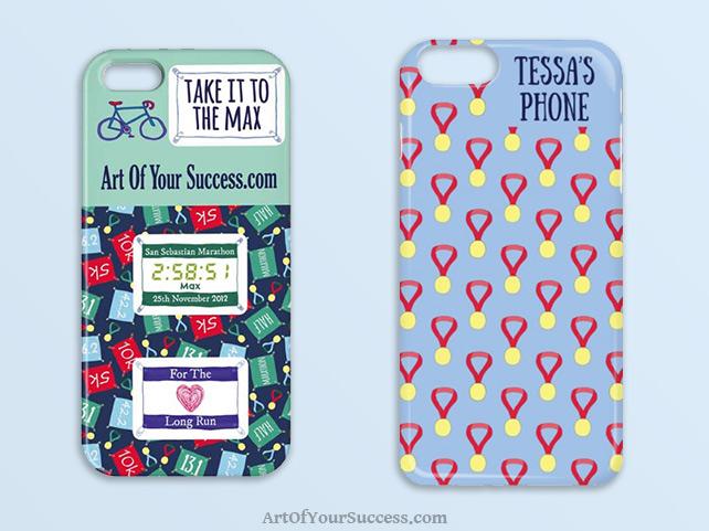 Custom phone cover for runner