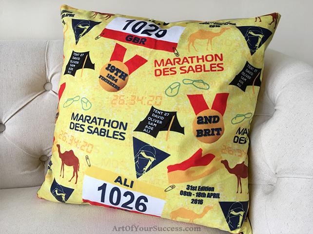 Marathon des Sables cushion