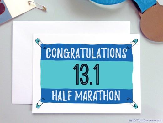 Half Marathon Congratulations card for runner