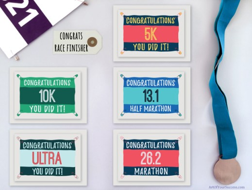 Congratulations cards for runners