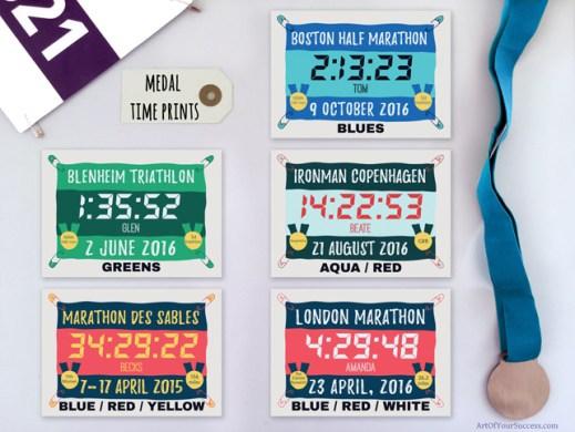 Finish time prints runner triathlete