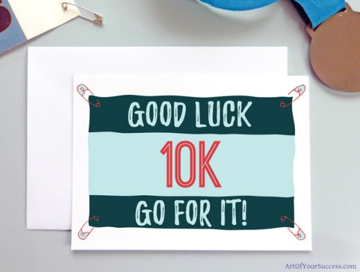10k Good Luck card for runner
