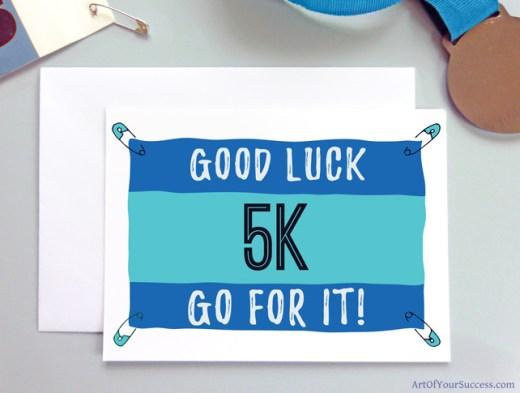 5k Good Luck card for runner