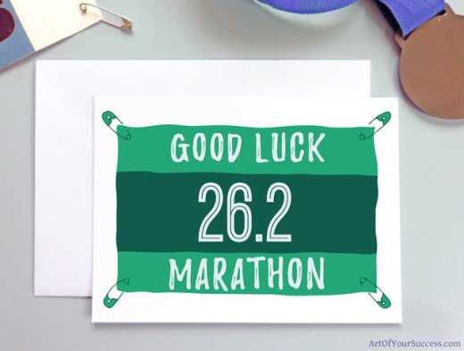 Marathon Good Luck card for runner
