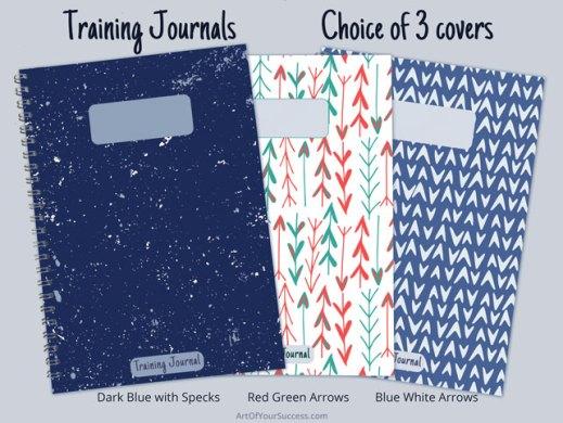 training diary cover choice