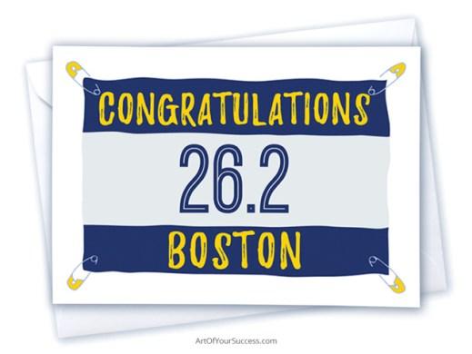 Congratulations Boston Marathon card
