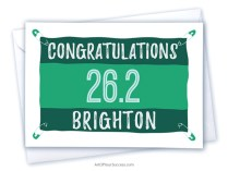 Congratulations Brighton Marathon card