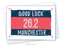 Good Luck Manchester Marathon card