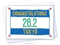 Congratulations Tokyo marathon card