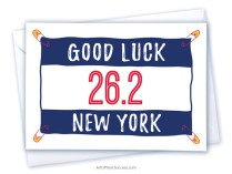 Good Luck New York marathon card