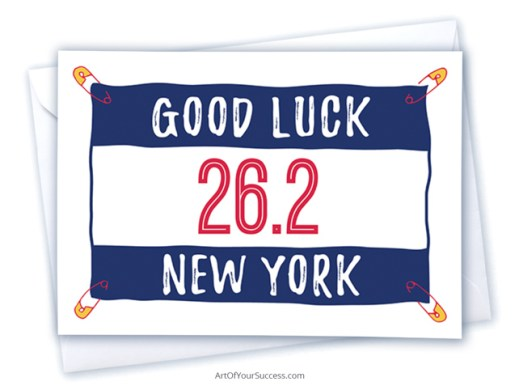 Good Luck New York marathon card