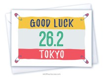 Good luck Tokyo marathon card
