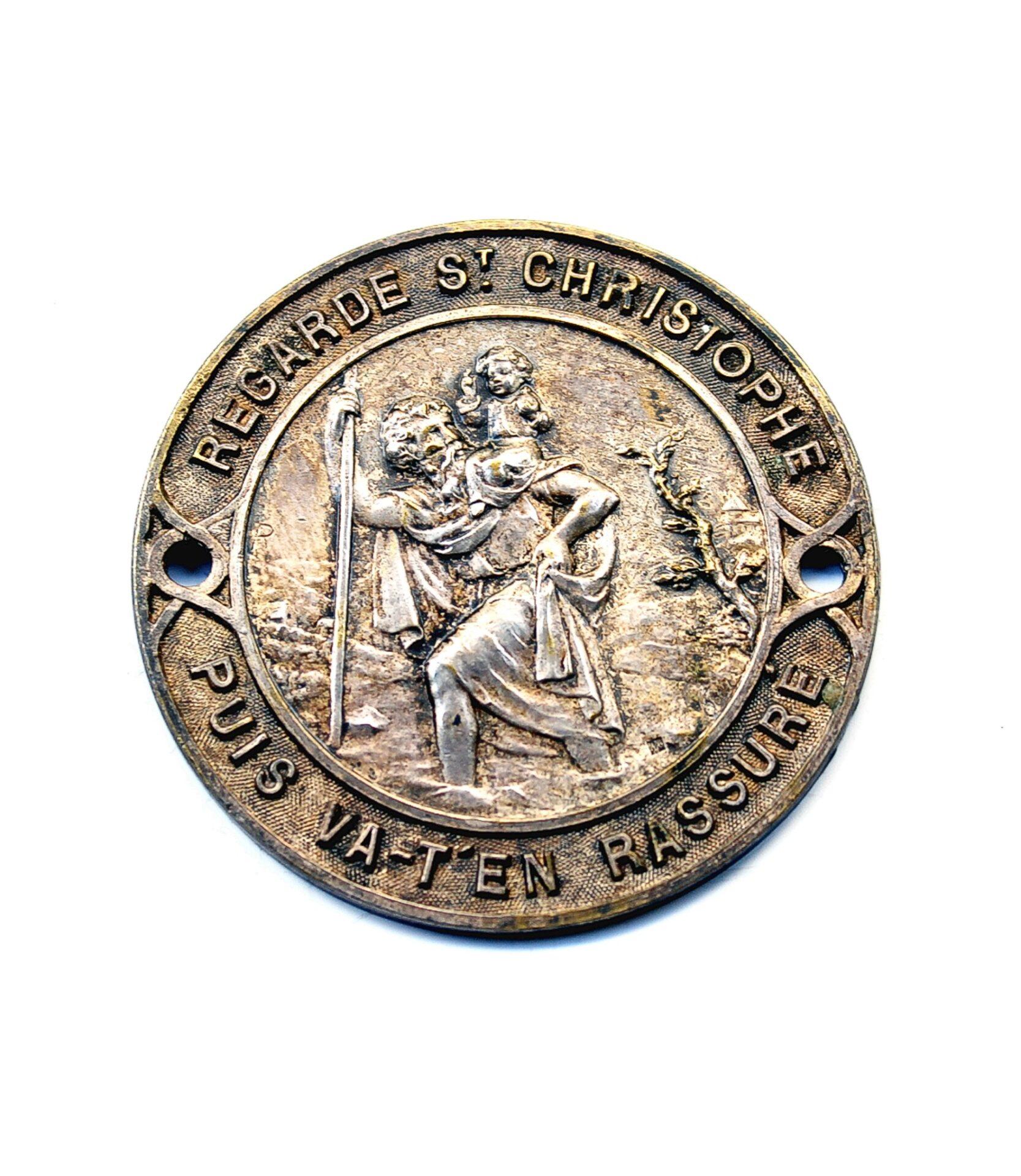 French Saint Christopher dashboard badge