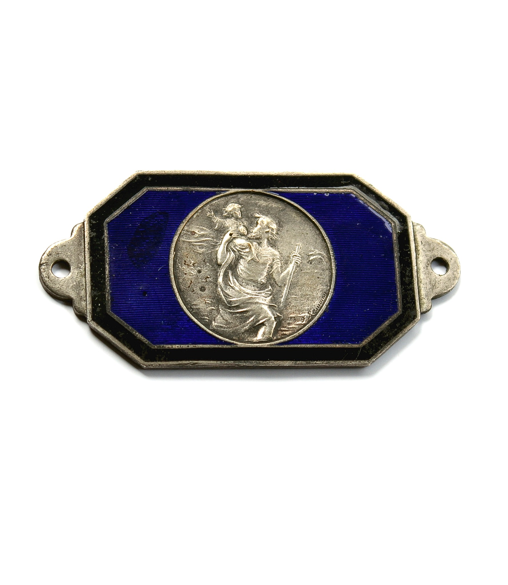 Fine small St.Christopher dashboard badge by Rasumny for sale