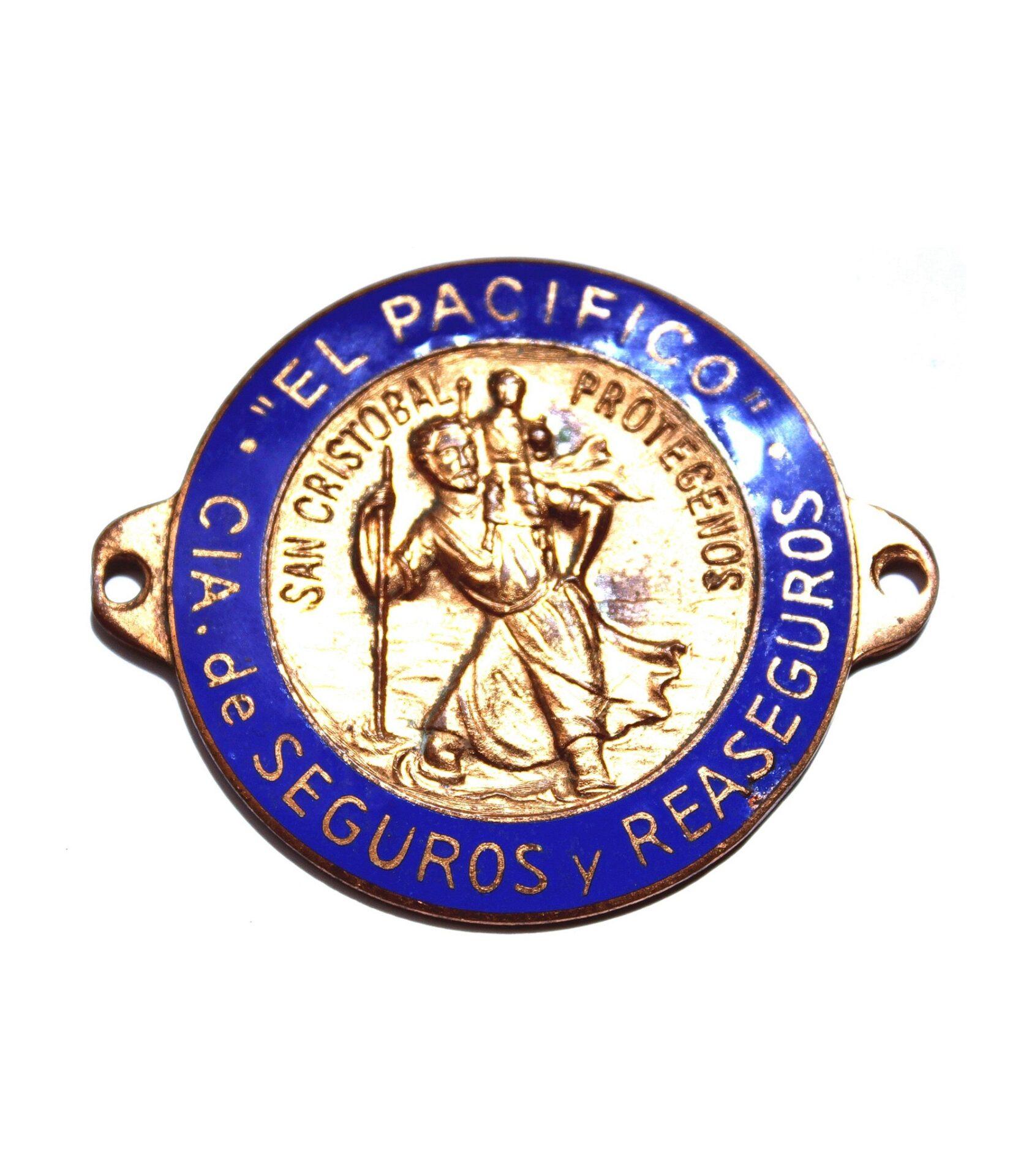 El Pacífico Enamel Saint Christopher Badge