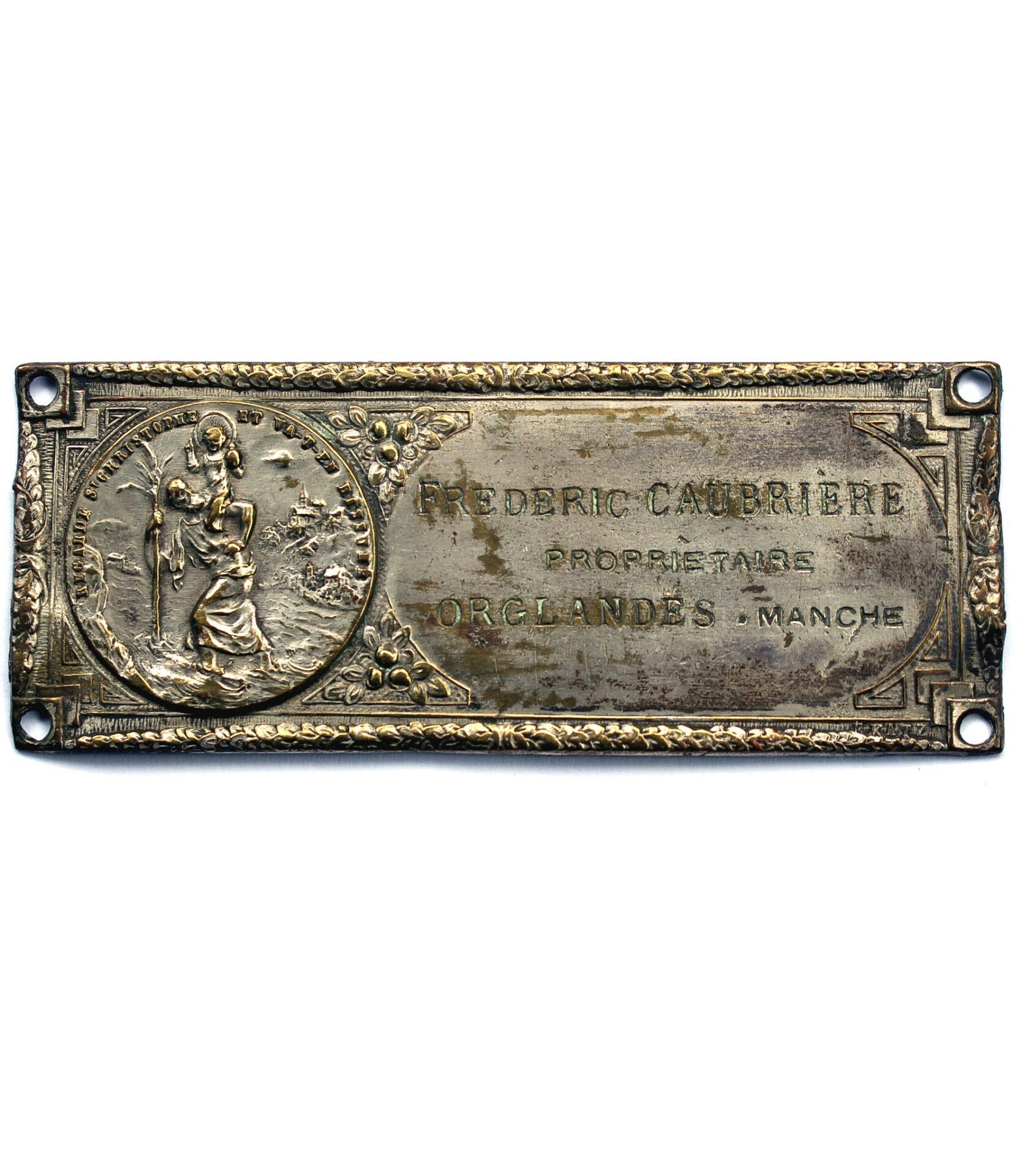 St.Christopher identification plaque by E.Katz for sale