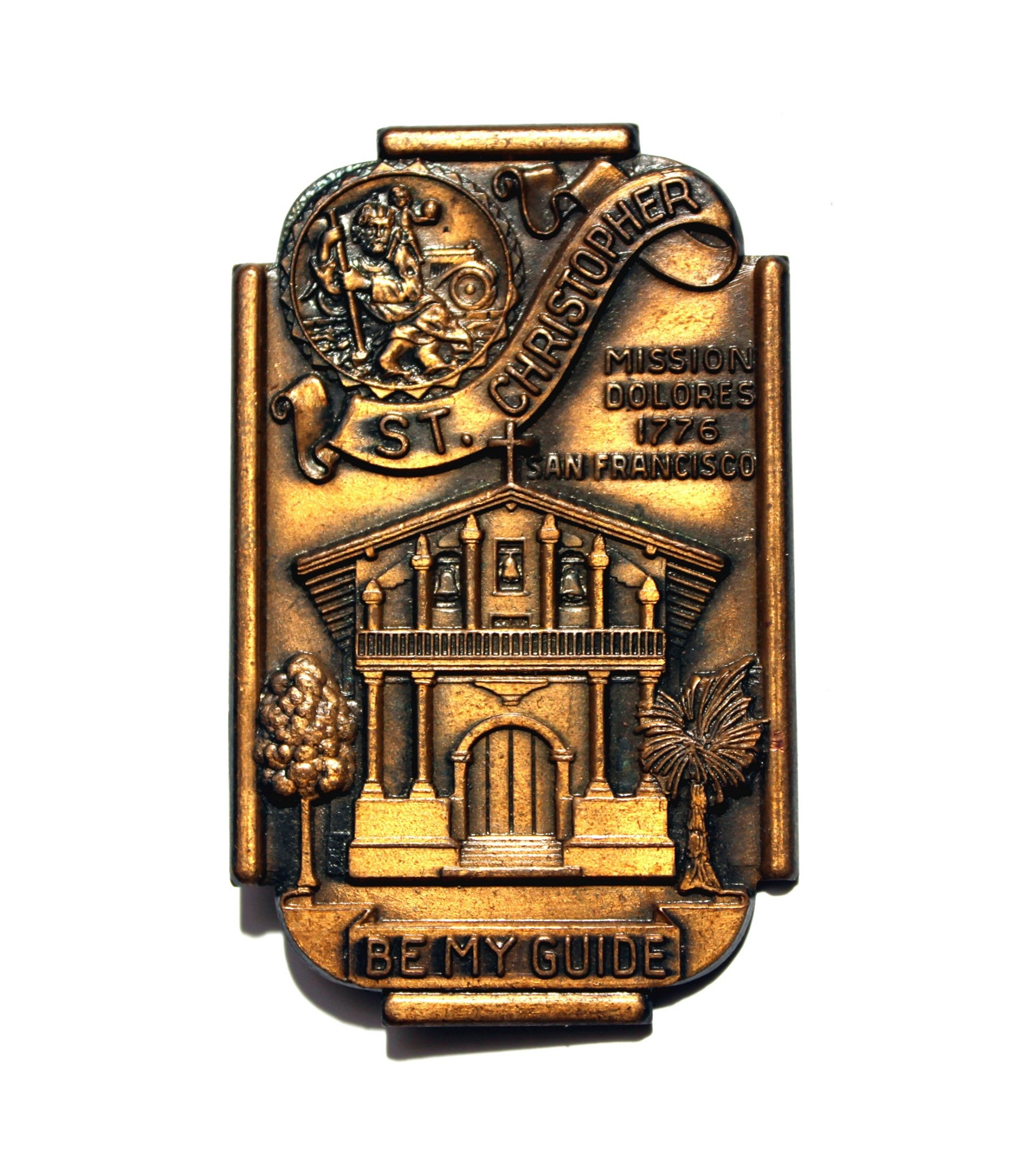 Mission Dolores San Francisco St. Christopher Visor Clip
