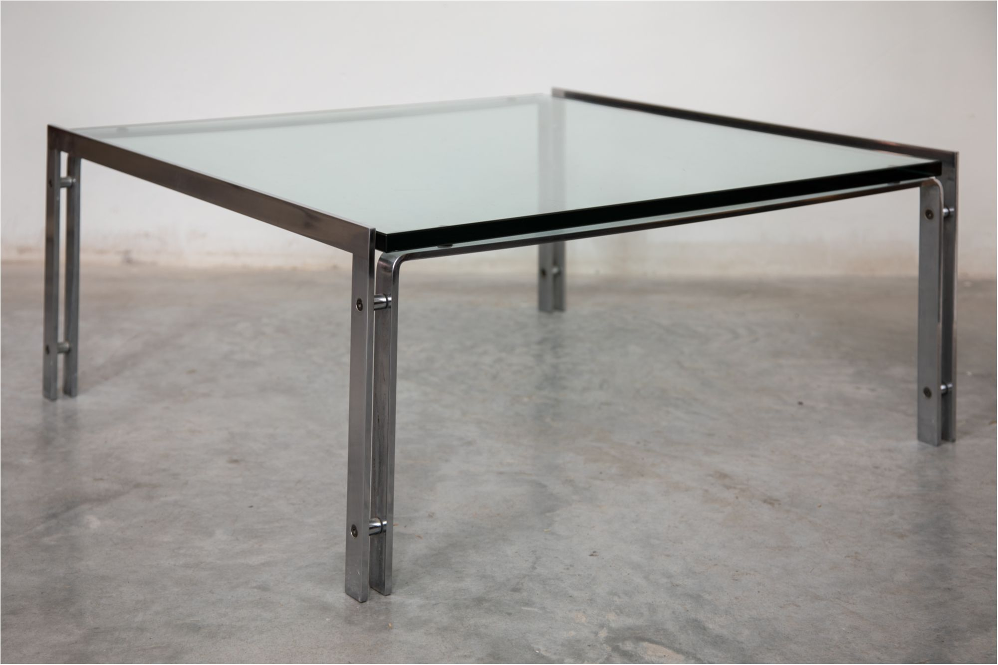 Glass Top And Chrome Coffee Table By Horst Bru Ning For Kill