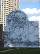 Mural in Dewey Square Park, Rose Kennedy Greenway, Boston