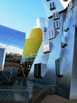 galvanized and powder-coated metal sheeting enhance surfaces of buildings on plateau