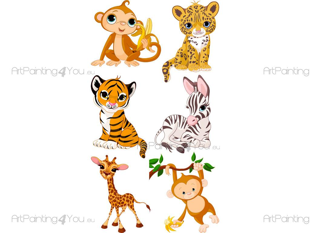 Wall Stickers For Kids Jungle Animals Kit En
