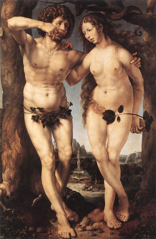 Adam and Eve by Jan Gossaert (Mabuse)
